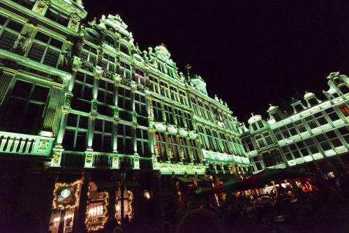 Брюссель. Световое Новогоднее шоу